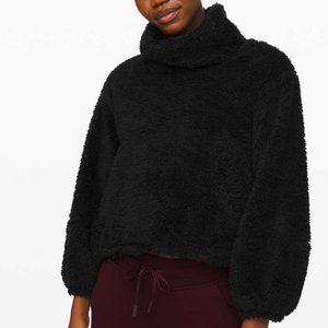 Lululemon Warmth Restore Sherpa Pullover Blk L XL